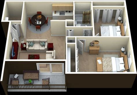 Home Office Interior Design by Paket Interior Apartemen 2 Kamar Leora