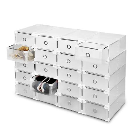 clear shoe storage boxes 20 plastic drawer shoe storage box clear stackable