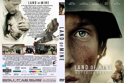 bajo la arena de land of mine dvd cover label 2015 r2 custom