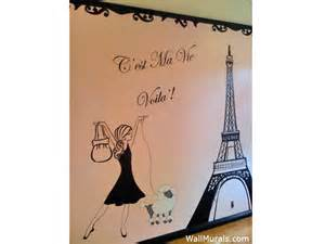 Paris Themed Wall Murals girls room wall murals by colette wall murals for girls