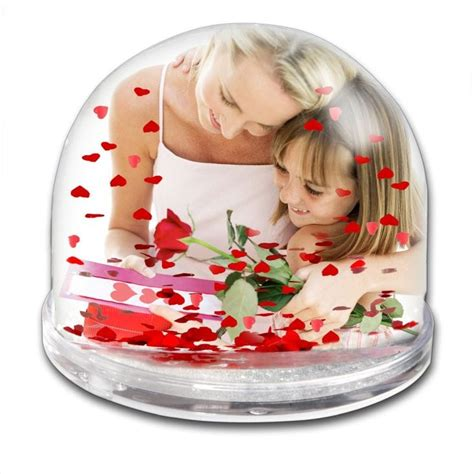 personalised heart snow globe find me a gift