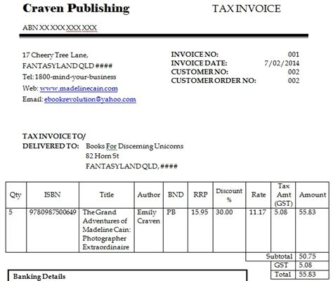 How To Get Your Print Books Into Your Local Book Store In 7 Steps E Book Revolution Dummy Invoice Template