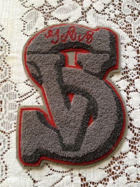 Naca Gift Letter Vintage Chenille Varsity Letter Letterman Sv Gray Retro High Sc