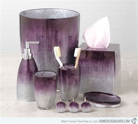 purple and grey bathroom sets 15 elegant purple bathroom accessories home design my