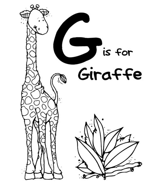 letter g giraffe coloring page we love being moms letter g giraffe gorilla