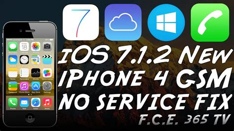 ios 7 1 2 no service fix october iphone 4 bypassed with proofs