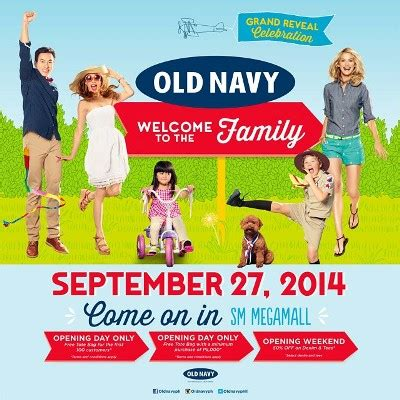 old navy coupons cell phone old navy grand opening promo sm megamall philippine