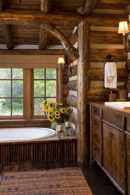 beautiful cozy rustic cabin bathroom rustic cabin