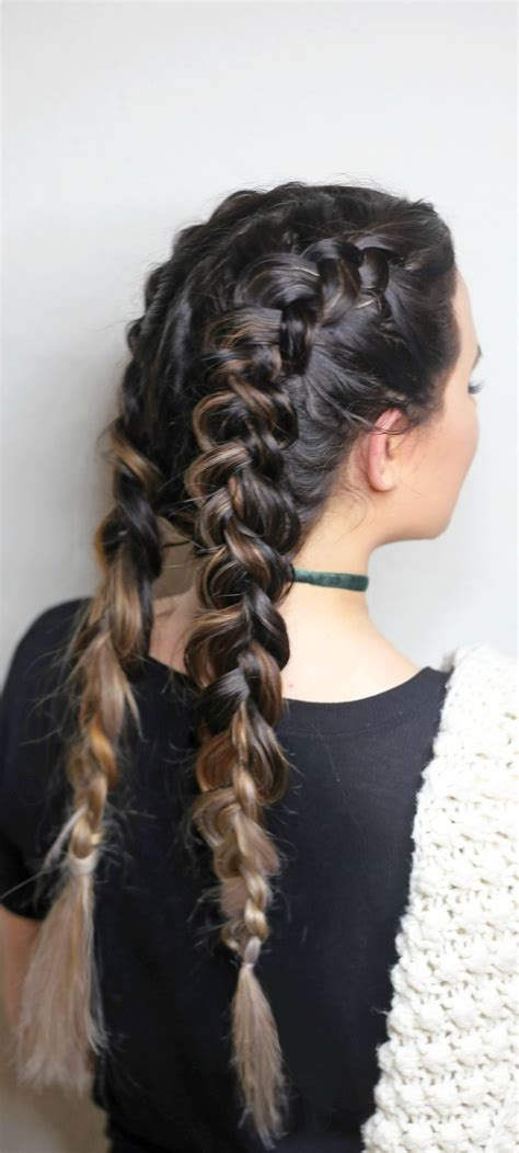 hairstyles braids ponytails and pigtails dutch braids for beginners french braid pigtails