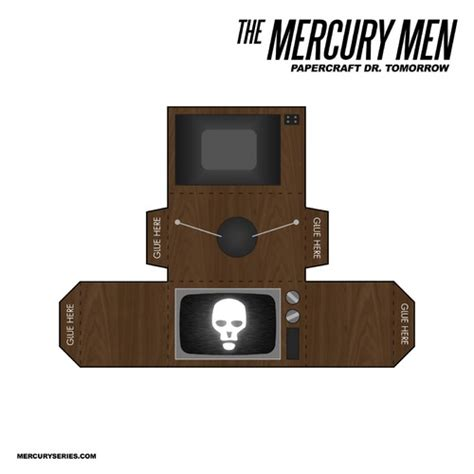 Tv Papercraft - the mercury papercraft dr tomorrow and battery