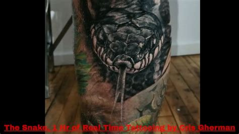 black and grey tattoo youtube close up tattooing realism snake tattoo how to tattoo