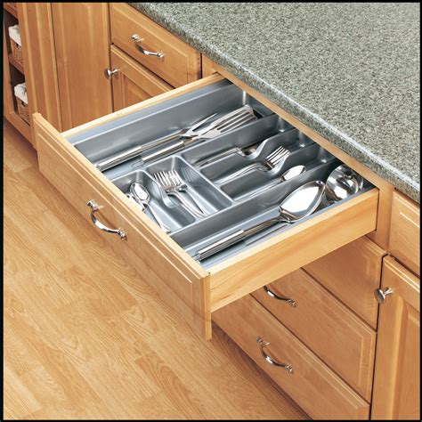 Cutlery Inserts For Drawers by Shop Rev A Shelf 21 25 In X 21 87 In Plastic Cutlery