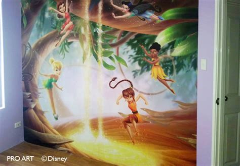 tinkerbell wall murals disney fairis wall murals home of tinkerbell