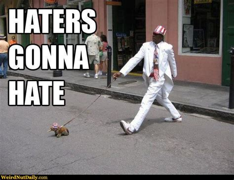 Hater Gonna Hate Meme - funny pictures weirdnutdaily haters gonna hate