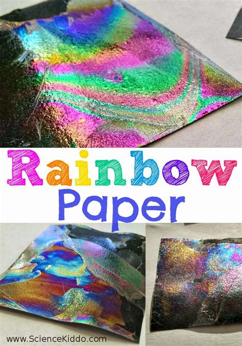 How To Make Rainbow With Paper - rainbow paper color science for science kiddo