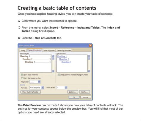 22 Table Of Contents Pdf Doc Free Premium Templates Content Creation Template