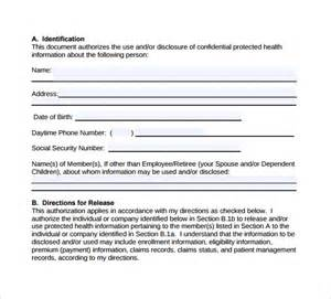 hipaa form template hipaa authorization form 7 documents in pdf word