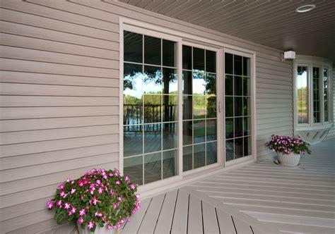 wooden 3 panel sliding door 9068 colonial style total comfort simonton windows doors