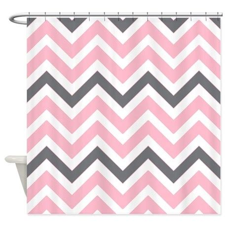 light pink and grey shower curtain light pink and gray chevrons shower curtain by