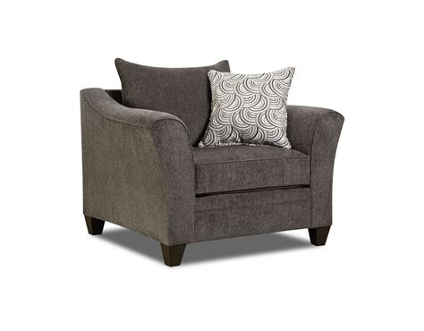 Albany Upholstery by Simmons Madelyn Stationary Chair Albany Pewter