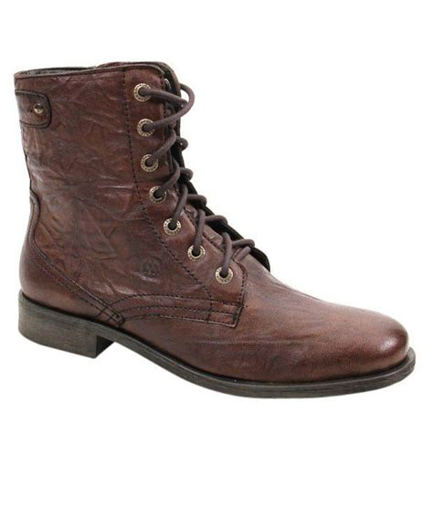 alberto torresi trendy brown high ankle boots price in