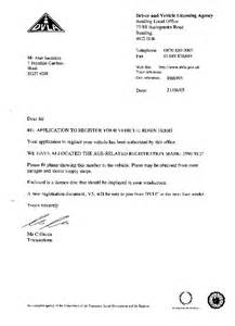 Dvla Acknowledgement Letter Not Received Alan S Paperwork For Kit A Member Of The Rhocar Club All Things Robin Kit Cars