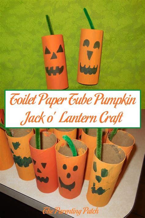 O Lantern Paper Craft - toilet paper pumpkin o lantern craft