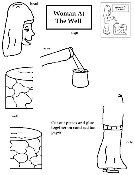 preschool coloring pages woman at the well woman at the well coloring page jesus well living water