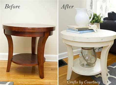 End Tables Amazon Easy Side Table Makeover Fun With Chalk Paint