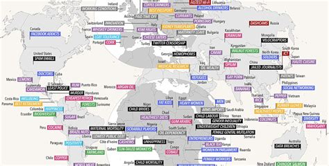 what is the in the world world map reveals what each country is for world of buzz