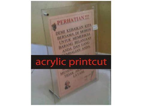 Harga Kaca Clear 3mm acrylic frame acrylic printcut