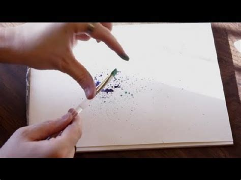 How To Make Paper Spray - paper watercolor splatter crafts drawing