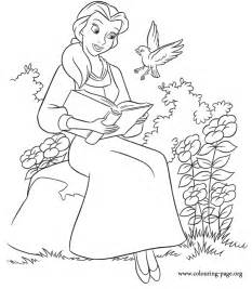 beauty beast belle reading book coloring