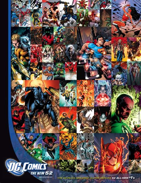 The New 52 Heroclix World Dc New 52 Poster