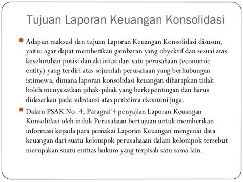 membuat laporan keuangan konsolidasi laporan keuangan konsolidasi