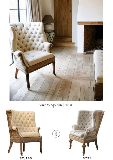 Fontaine Wingback Chair by Restoration Hardware Deconstructed 19th Century