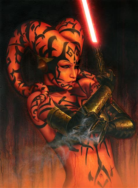 darth talon original and limited edition art artinsights