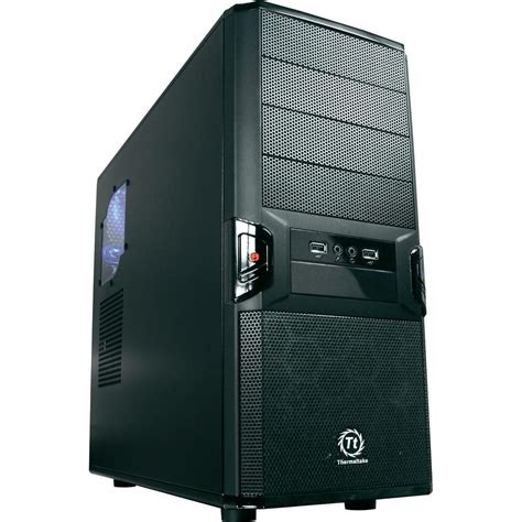 Casing Black midi tower pc casing thermaltake v3 black edition black