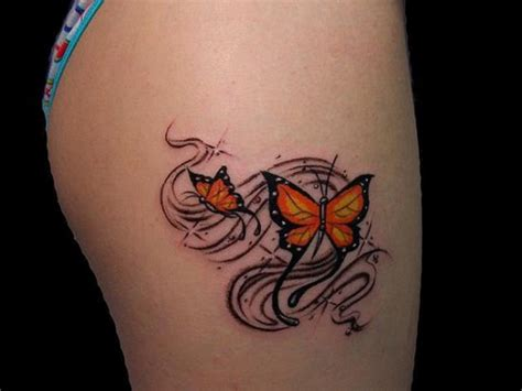 bright ideas tattoo bright yellow butterfly on thigh amazing ideas