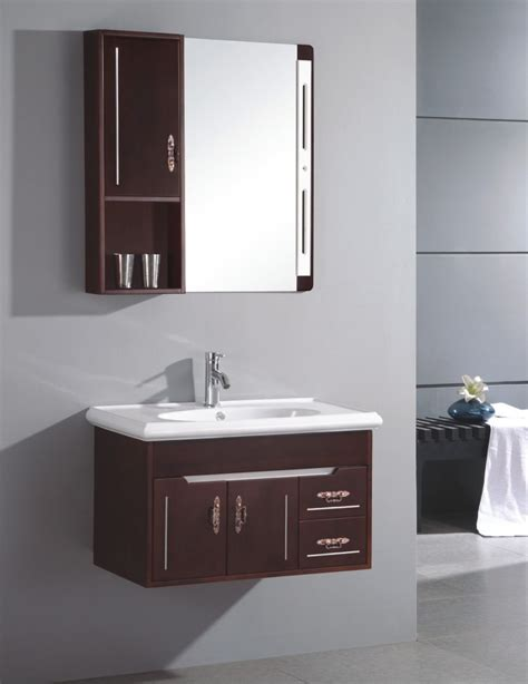 Small Sinks And Vanities For Small Bathrooms Small Sink Cabinet Small Wall Mounted Single Sink Wooden Bathroom Vanity Cabinet S6096