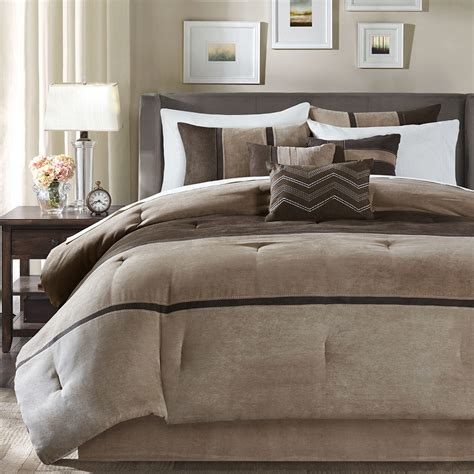 7 Beautiful Bedding Sets From Outfitters by Beautiful Modern 7 Pc Brown Taupe Stripe Soft
