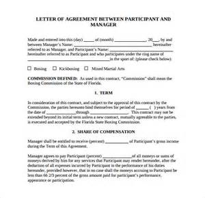Contract Agreement Letter Exle Letter Of Agreement 15 Free Documents In Pdf Word