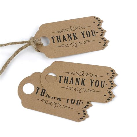 Wedding Favors Thank You Tags by Vintage Kraft Wedding Favor Thank You Tags Cake