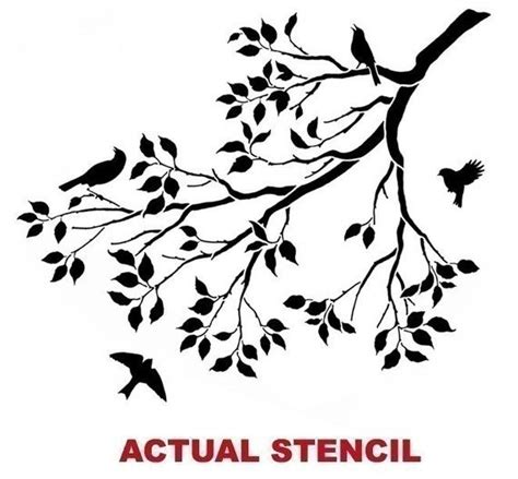 printable wall stencils birds wall stencil tree branch with song birds by