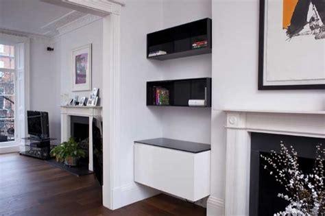 Kitchen Architecture Design high gloss alcove units bespoke av storage