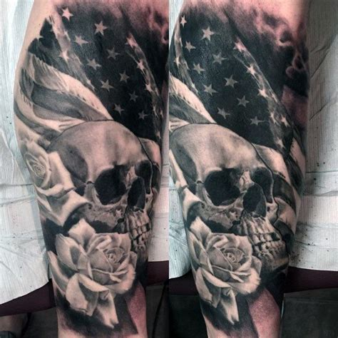 black and grey american flag tattoo 30 patriotic american flag sleeve amazing