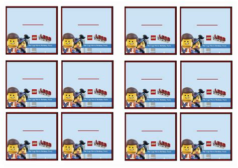 printable lego name tags the lego movie name tags birthday printable