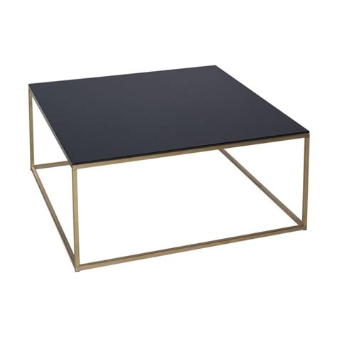 Buy Black Glass And Metal Square Coffee Table From Fusion Black Glass Coffee Tables