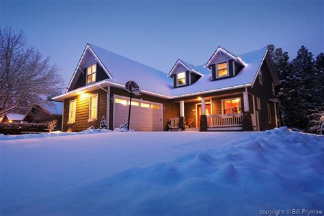 winter house house in winter with fresh snowfall