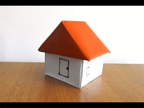 How To Make House Paper - how to make a paper house easily origami step by